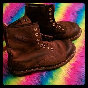 Dr Martens brown leather boots